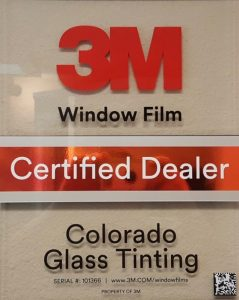 Colorado Glass Tinting 3M Certified Window Film Dealer