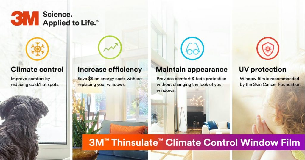 Upgrade Existing Windows with 3M Thinsulate Window Film in Denver, Loveland, Ft. Collins, Greeley and Windsor, Colorado 2